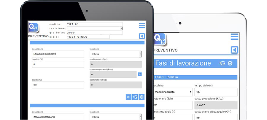 Quoto gestionale in cloud